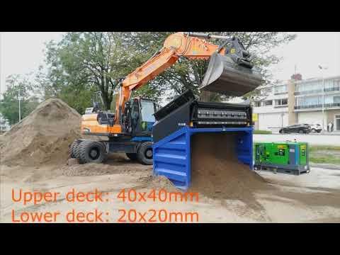 FleXiever MS40 zeefmachine afzeven grond met stenen
