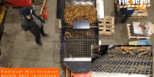FleXiever Mini Screener zeven houtsnippers