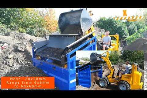 FleXiever MS10 afzeven grond met stenen